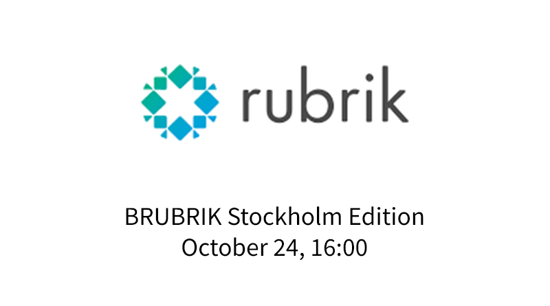 BRUBRIK – 24 October – Stockholm Edition